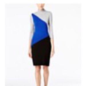 Calvin Klein Color blocked Sweater Dress